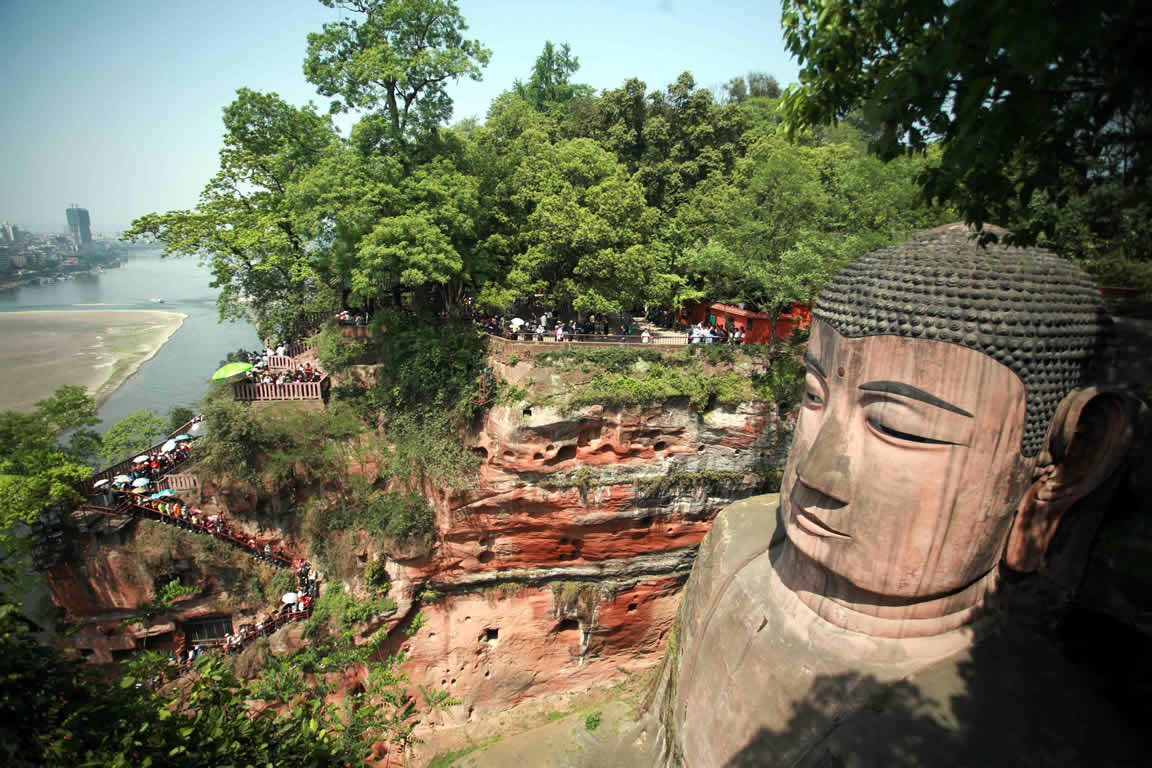 Image result for Leshan Giant Buddha in Leshan, China