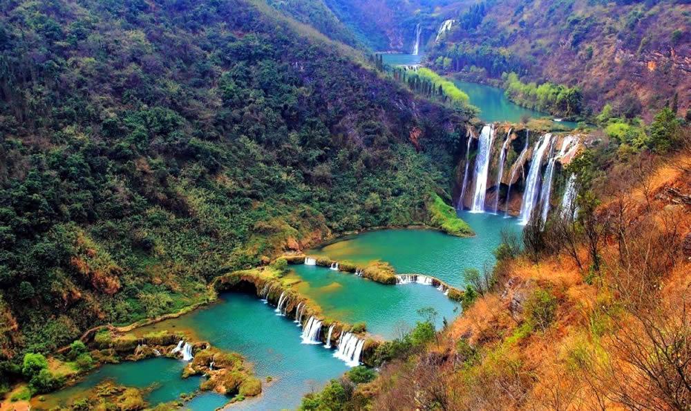 Luoping Nine Dragon Jiulong Waterfalls Travel China